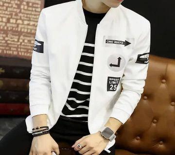 White And Black Stylish PU Leather জ্যাকেট ফর ম্যান