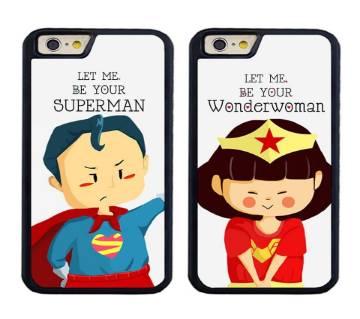 Superman Wonder Women কাস্টোমাইজড কাপল মোবাইল কভার ফর এনি মোবাইল মডেল