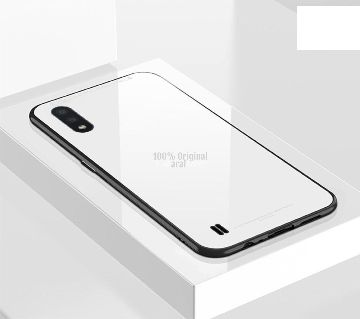 Samsung Galaxy A01 Glass Back Case Cover