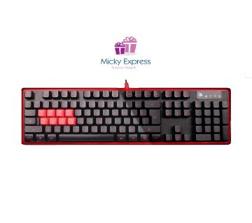 A4 Tech Bloody B2278 8 Optic Switch(QWER ASDF) Blue Switch Black Red Gaming Keyb