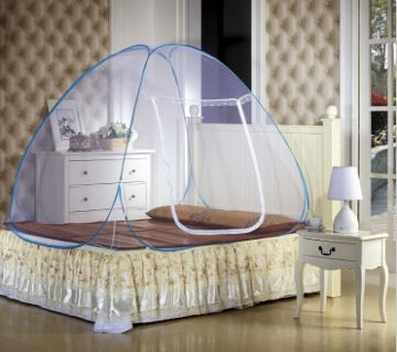 Folding Smart Mosquito Net (Queen Size Bed)