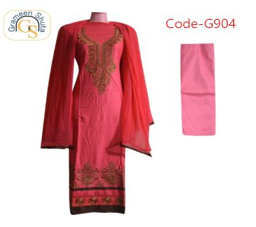 Semi Stitched Cotton Salwar Kameez