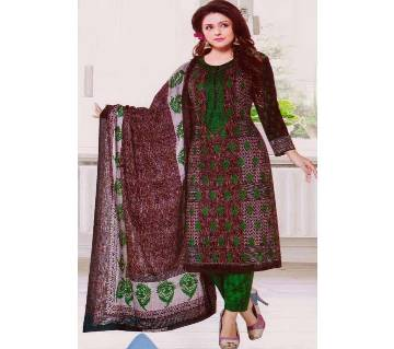 Unstitched Multicolor Cotton Printed Salwar Kameez For Women