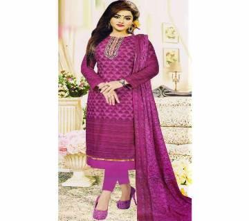 Unstitched Cotton Salwar Kameez