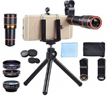 12X Metal Zoom + Blur Mobile Lens