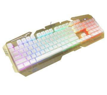 T8 LED Rainbow Color Backlight Gaming Game USB Wired Keyboard