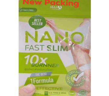 Gluta Nano Fast Slim  Fat Burner Faster Weight loss slimming body shaper- 30 capsules-Thailand