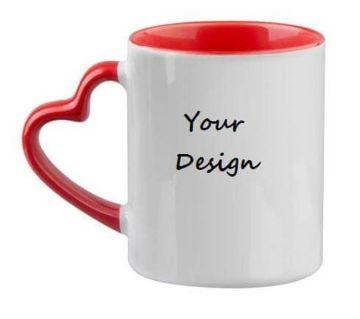 customized heart shape mug