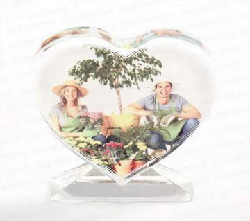 Love shape sublimation crystal frame