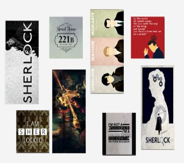 Sherlock Themed Stickers (8 Pieces)