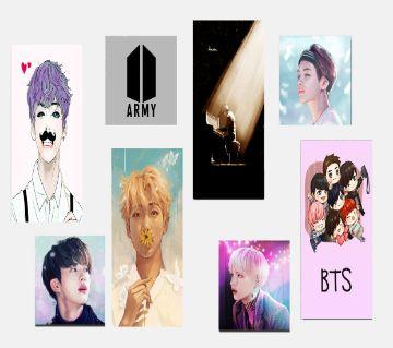 BTS K-POP Themed Stickers (8 Pieces)