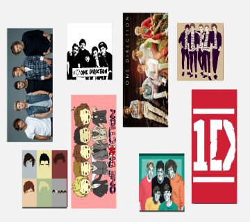 One direction Band Themed Stickers (8 Pieces)