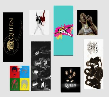 Queen Music Band Themed Stickers (8 Pieces)