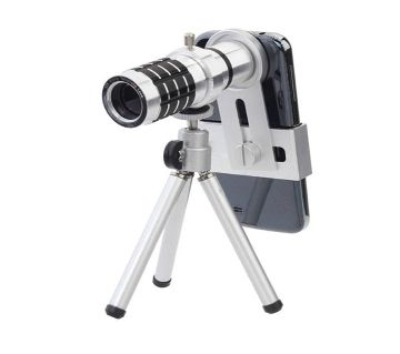 12X  mobile zoom lense  (steel)
