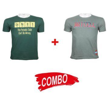 genius + artcell half sleeve combo t-shirt