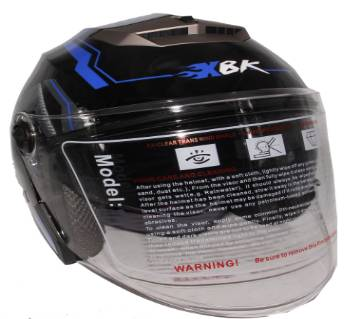 XBK-603 Matt Black Graphic ইউনিসেক্স হেলমেট-Black Blue