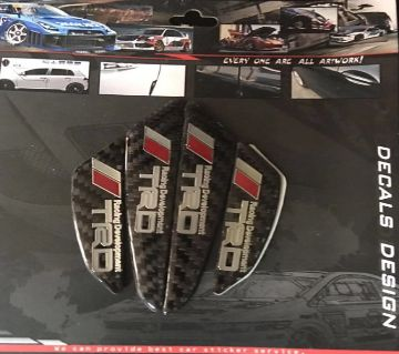 TRD Carbon Fiber Car Side ডোর গার্ড Edge Scratch Protector Guard Sticker