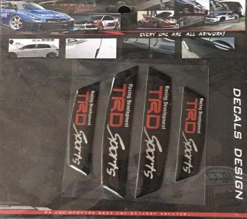 TRD  Sports Carbon Fiber Car Side ডোর গার্ড Edge Scratch Protector Guard Sticker