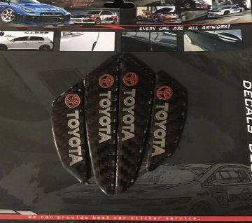 Toyota Carbon Fiber Car Side ডোর গার্ড Edge Scratch Protector Guard Sticker