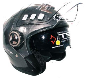 Yema-623 Motorcycle Helmet With Lenses-Glossy Gray
