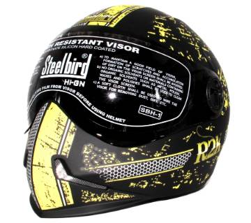 Adonis R2K- Full Face Bike Helmet for Men and Women - Black Yellow