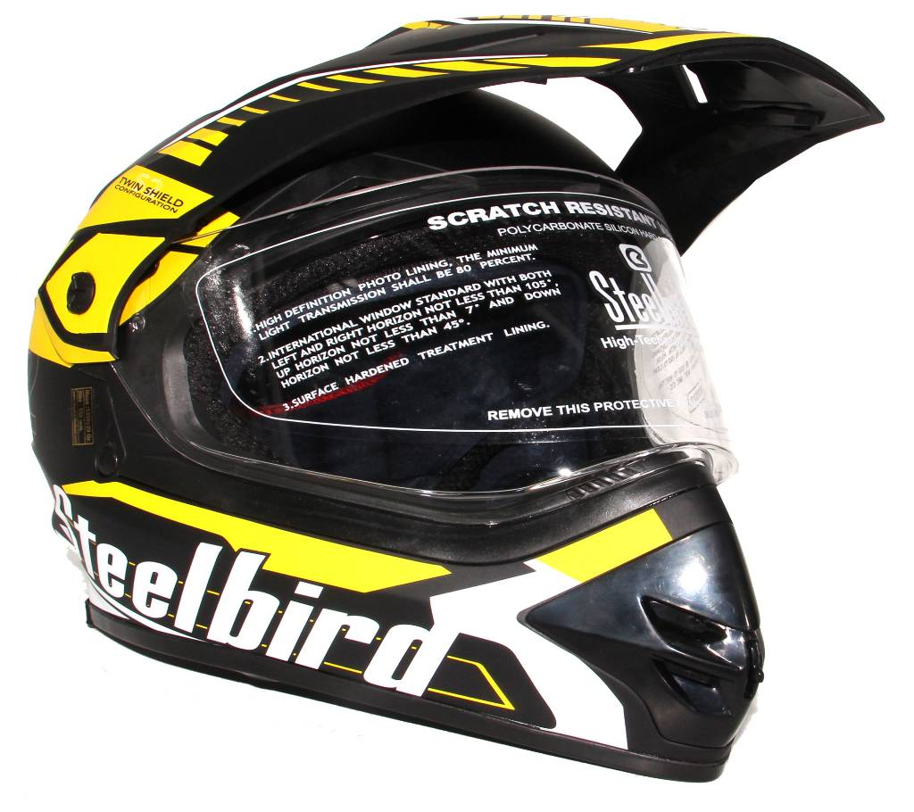 Airborne - Full Face বাইক হেলমেট ফর মেন - Yellow and Black বাংলাদেশ - 943842