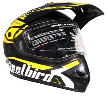 Airborne - Full Face Bike Helmet for Men - Yellow and Black