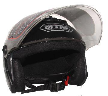 STM-603 Bike Helmet for Men and Women-Glossy Black