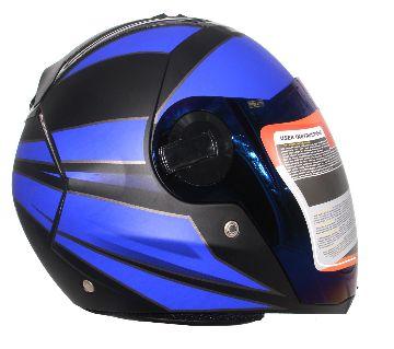 Steelbird SBA-2 Streak Matt Black With Blue Full Face Helmet