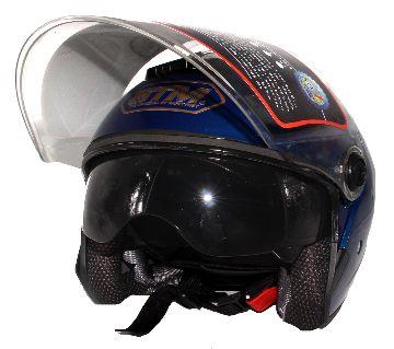STM-603 Bike Helmet for Men and Women With Sun Glass-Blue