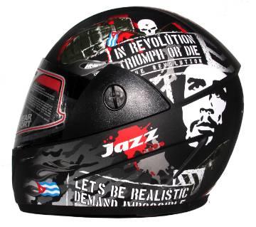 GLIDER Jazz D4 Full Face Helmet  -Matt Black Red