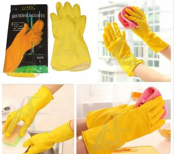 Housework Dish-Washing and Cleaning  Latex Rubber Hand Gloves Waterproof