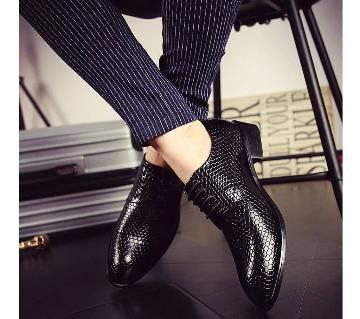 Menz Faux Leather Formal Shoes - 589 - Black