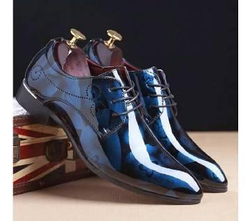 Menz Faux Leather Formal Shoes - 570 - Matisse Blue
