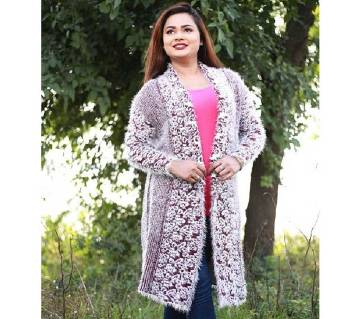 Ash Stylist Multi Color Cardigan For Ladies