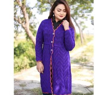 Purple Wear a stylish cardigan