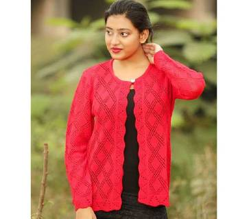 Red Short Cardigan for Girl