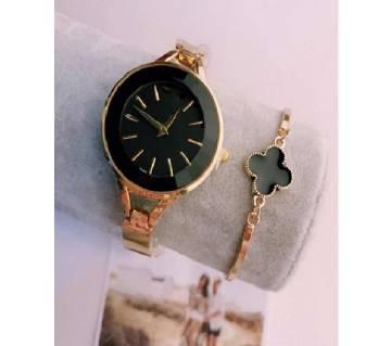 Armani Black Watch with Bracelet (Master Copy)