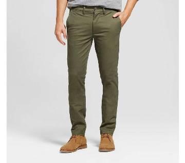 Army Olive Slim Fit Gabardine Pant