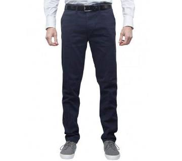 Prussian Navy Blue Regular Fit Gabardine Pant