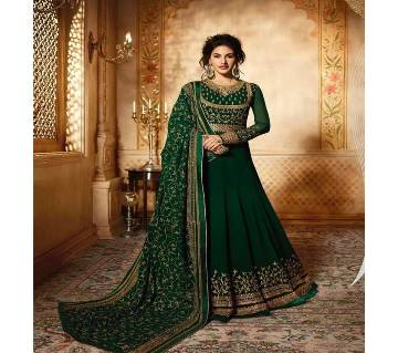 Semi Stitched Indian Weightless Georgette Embroidery Long Gown - Copy