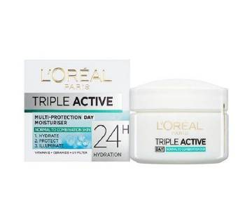 L`OREAL PARIS Triple Active multi-protection Moisturizer Normal-combination skin 24H (Germany) DAY