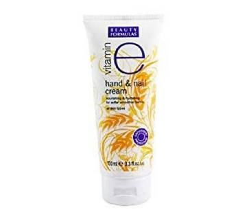 Beauty Formulas Vitamin E Hand & Nail Cream 100 ml