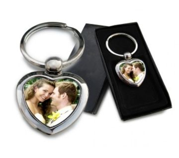 Key Ring With your Picture (Love Shape)
