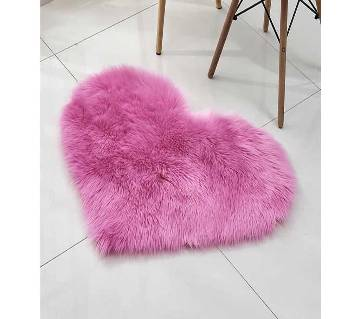 70X90 Love Heart Rugs Artificial Wool Sheepskin Carpet Bedroom Living Room Floor Mat Soft Fluffy Area Rug