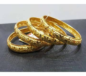 Gold Plated Bangles (4 pc)
