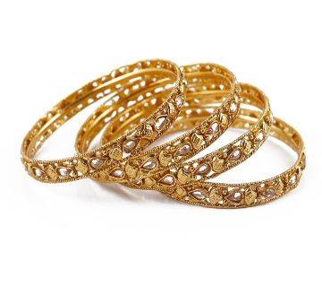 Gold plated bangles (4 pice)