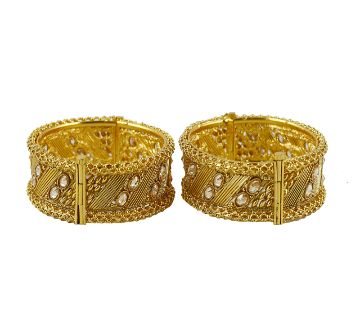 Gold plated bangles - 2 pieces