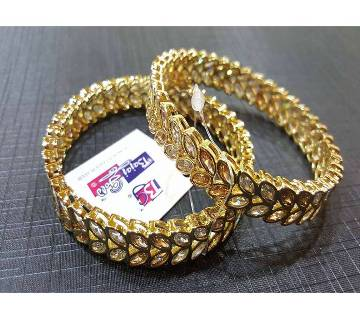 Gold Plated Diamond cut Bangles
