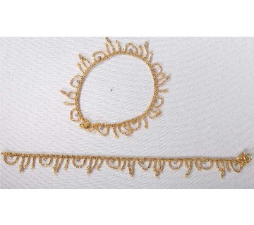 Ladies Gold Plated Anklet - 2 pieces